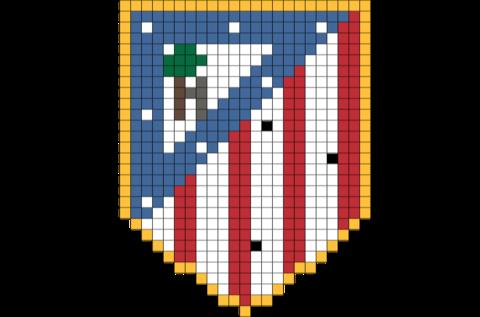 Atlético Madrid Pixel Art Art 8 Bit Art