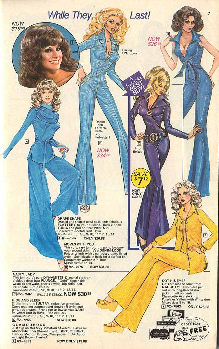 Wild Jumpsuits 1977 Catalog Style Vintage Ads Disco