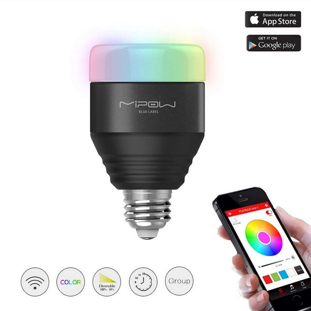MIPOW 4.0 Bluetooth Smart LED Light Bulb 5W E27 RGB APP