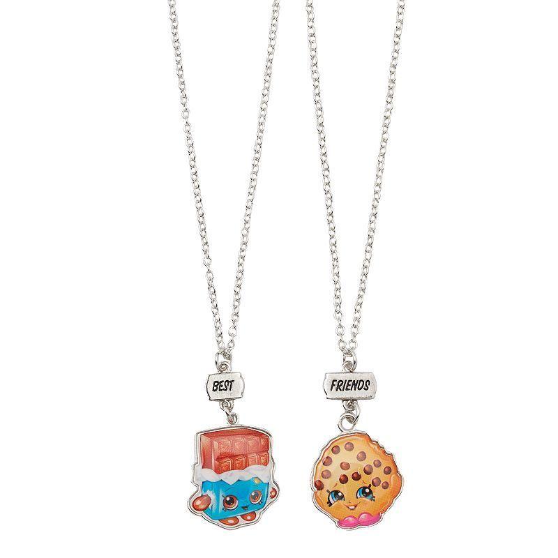 Girls Shopkins 2 Pk Best Friends BFF Cheeky Chocolate Kooky Cookie Necklace Set