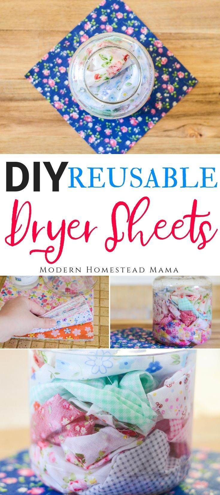 Diy dryer sheets reusable and natural homemade laundry