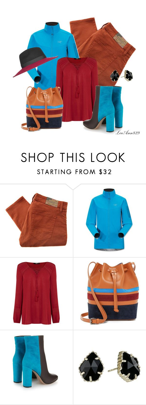 blue coat contest by leeann829 on Polyvore featuring Oasis, Arc'teryx, Denim & Supply by Ralph Lauren, Mary Katrantzou, Mother of Pearl, Kendra Scott, Topshop, women's clothing, women's fashion and women