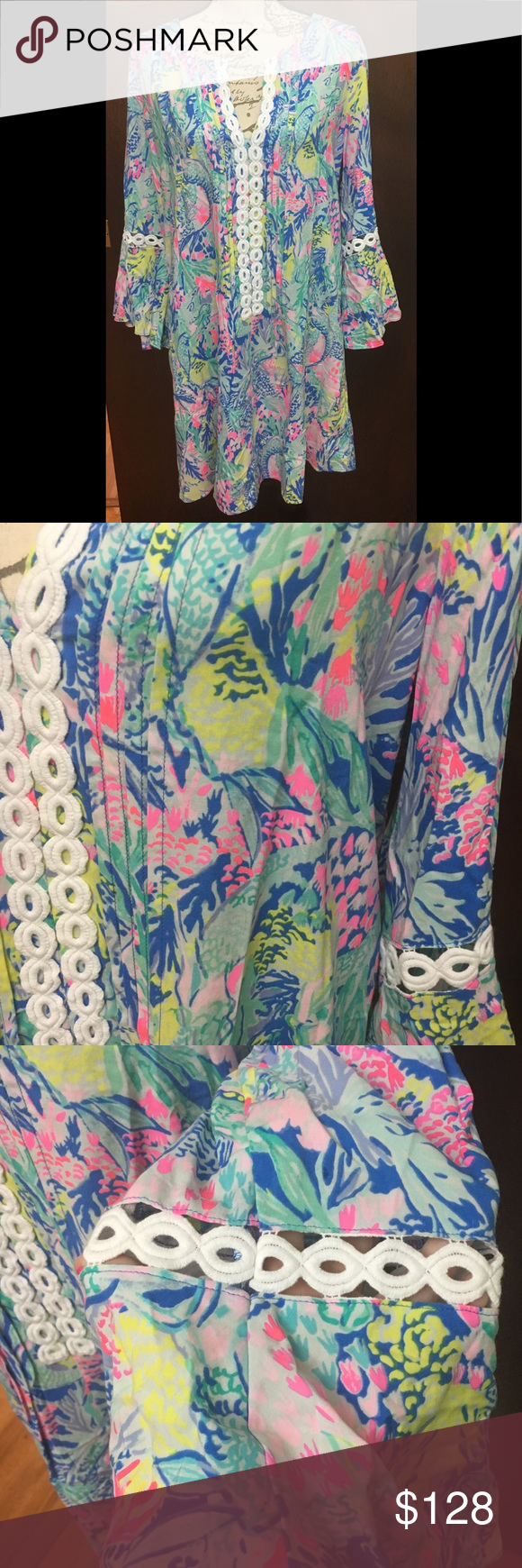 b2a2b71e799 Lilly Pulitzer Mermaids Cove Hollie Tunic Dress XL This dress is NWT  Description from LP:
