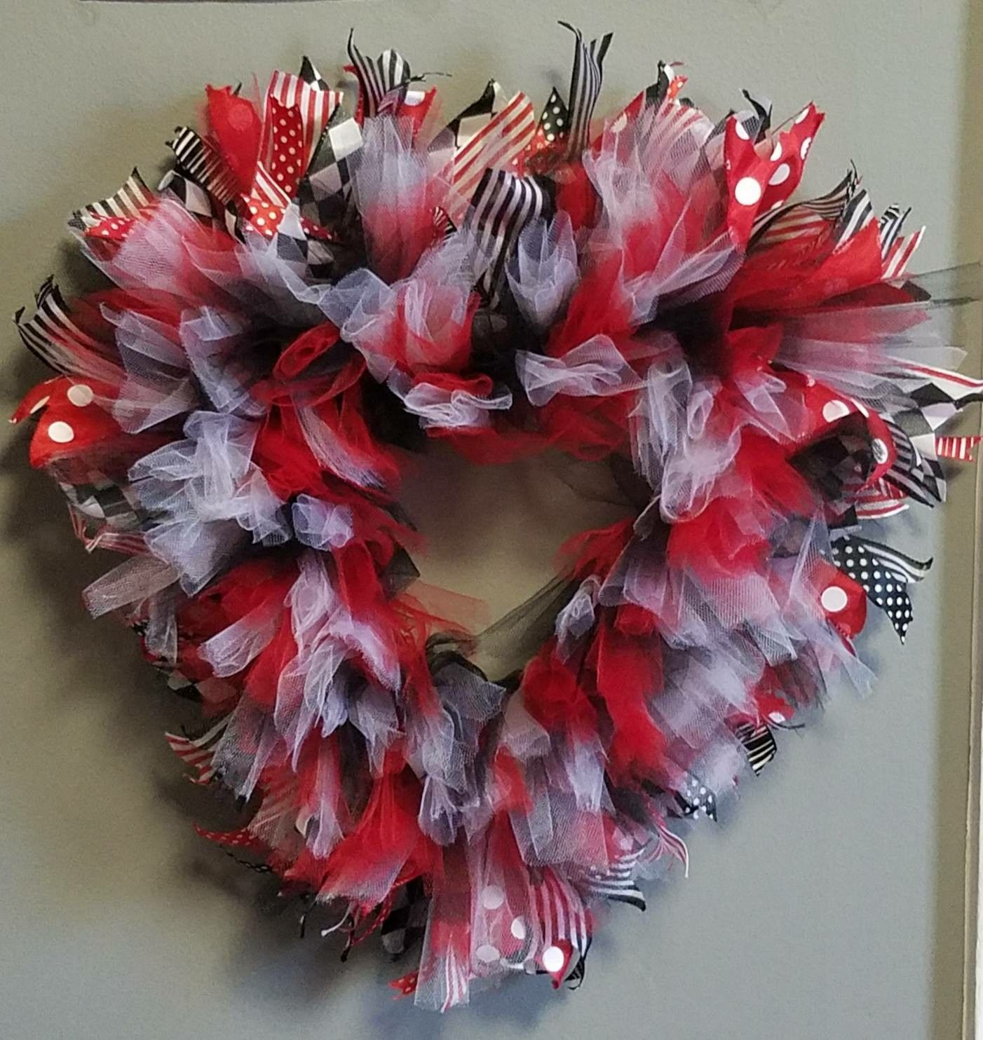 Excited To Share The Latest Addition My Etsy Heart Valentine Tulle Wreath