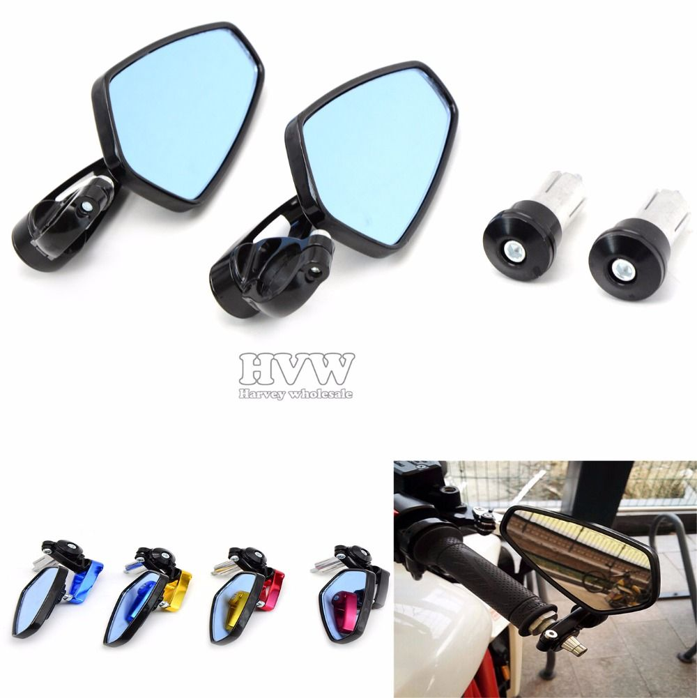 Most Motorcycle 7 8 22mm Handle Bar Motorcycle Side Mirror Rearview Driving Mirrors For Bmw R1200gs F800r S10 Handlebar Motorcycle Accessories Side Mirror