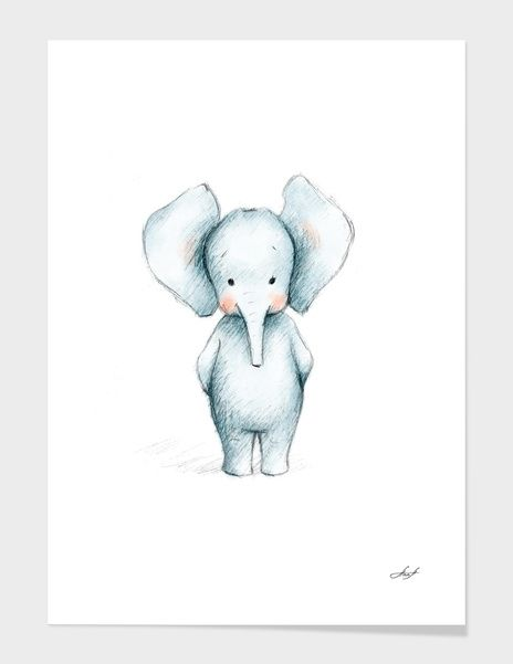 Discover «Baby Elephant», Numbered Edition Fine Art Print by Anna Abramska - From $20 - Curioos