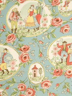 DecoratorsBest - Detail1 - FbC 2085904 - Folk Dance - Tidepool - Fabrics - - DecoratorsBest