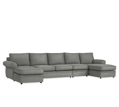 Pearce Upholstered Sectional Down Textured Twill 4 Piece