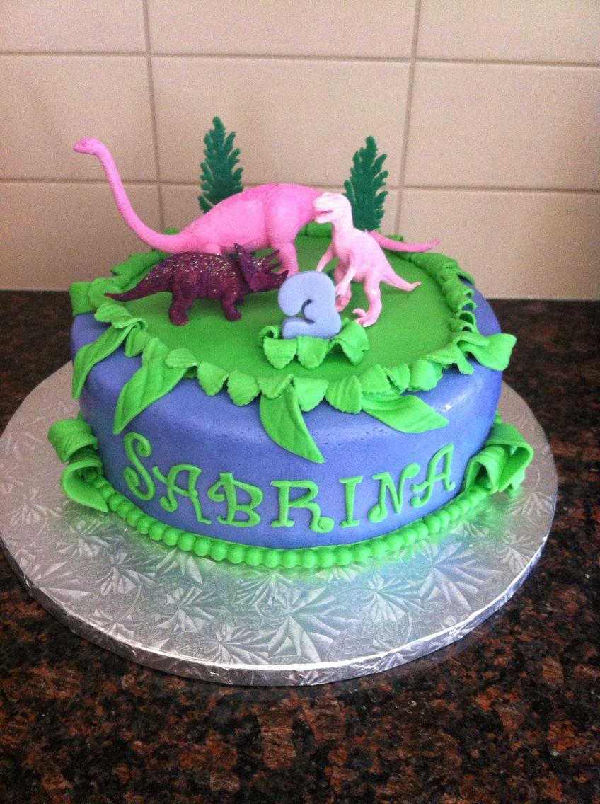 Dinosaur Cake For Girls