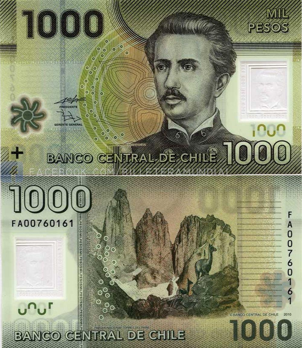 Chile 2010 1000 Pesos