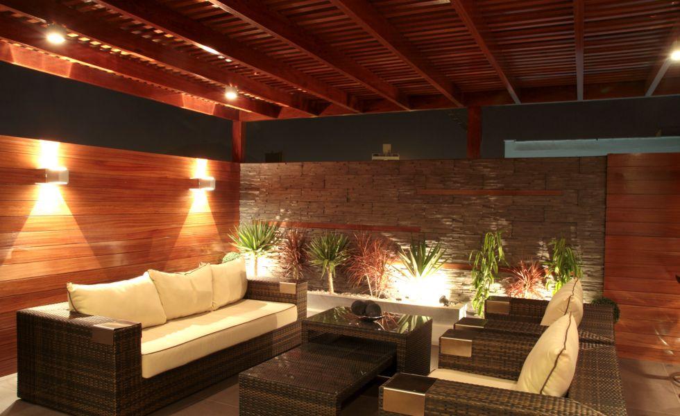 Foto uno jardin de mi casa pinterest patios - Iluminacion terrazas exteriores ...