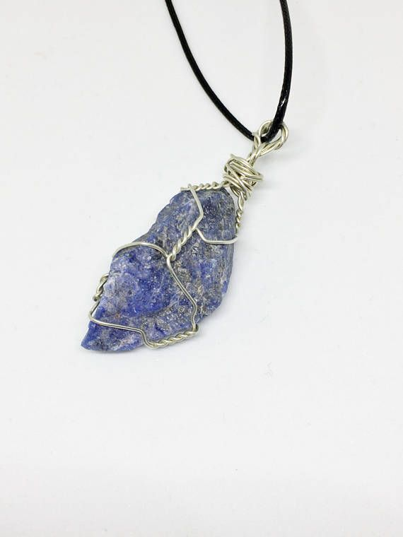 with rox blue crystal img real sodalite kayla denim pendant necklace vegan stone products jewelry shop recycled gift