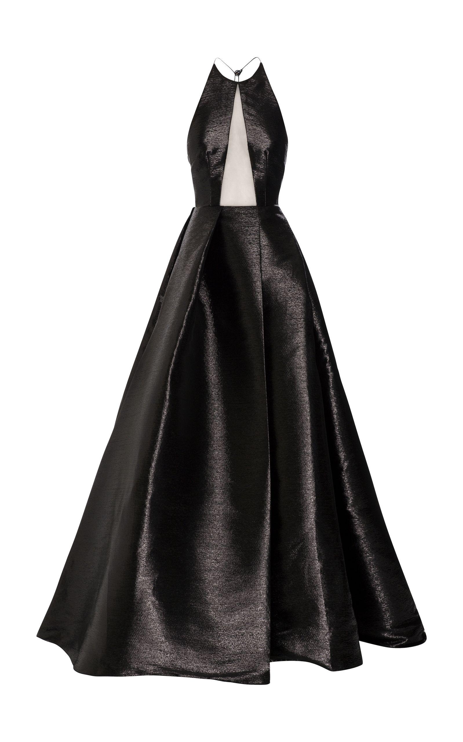 Natalie lurex halter gown by alex perry for preorder on moda