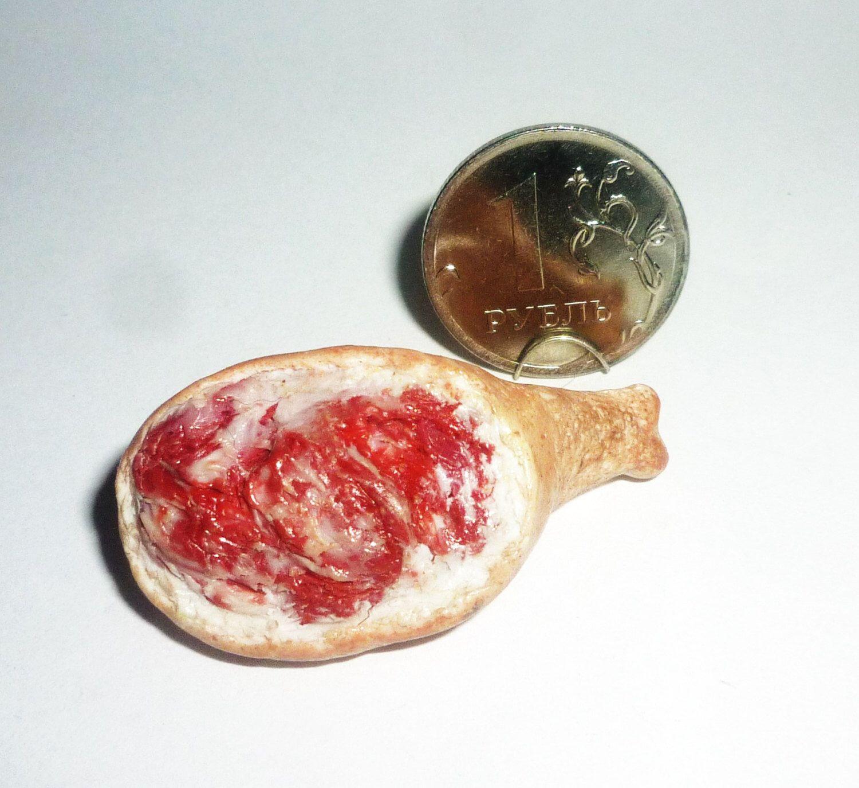 Miniature dolls house pork leg