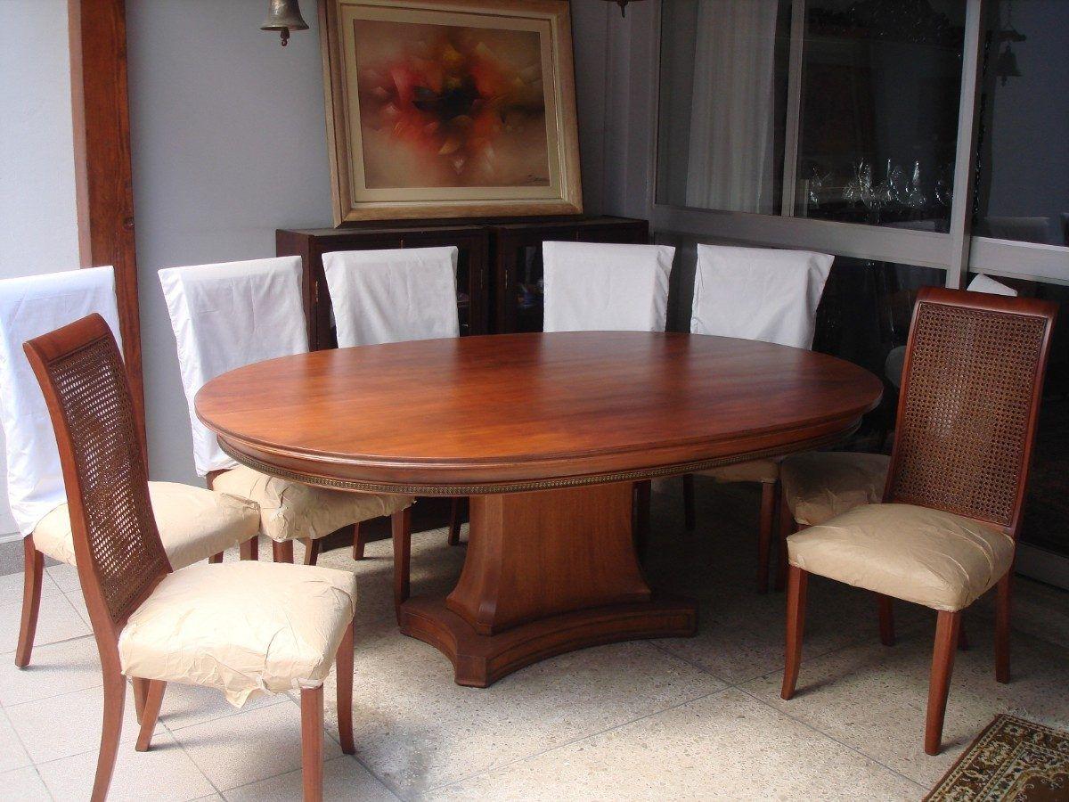 Juego de comedor o mesa ovalada de directorio estilo for Mesa comedor ovalada