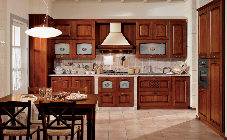 Stosa Ginevra in finitura Ciliegio. #stosacucine #kitchens ...
