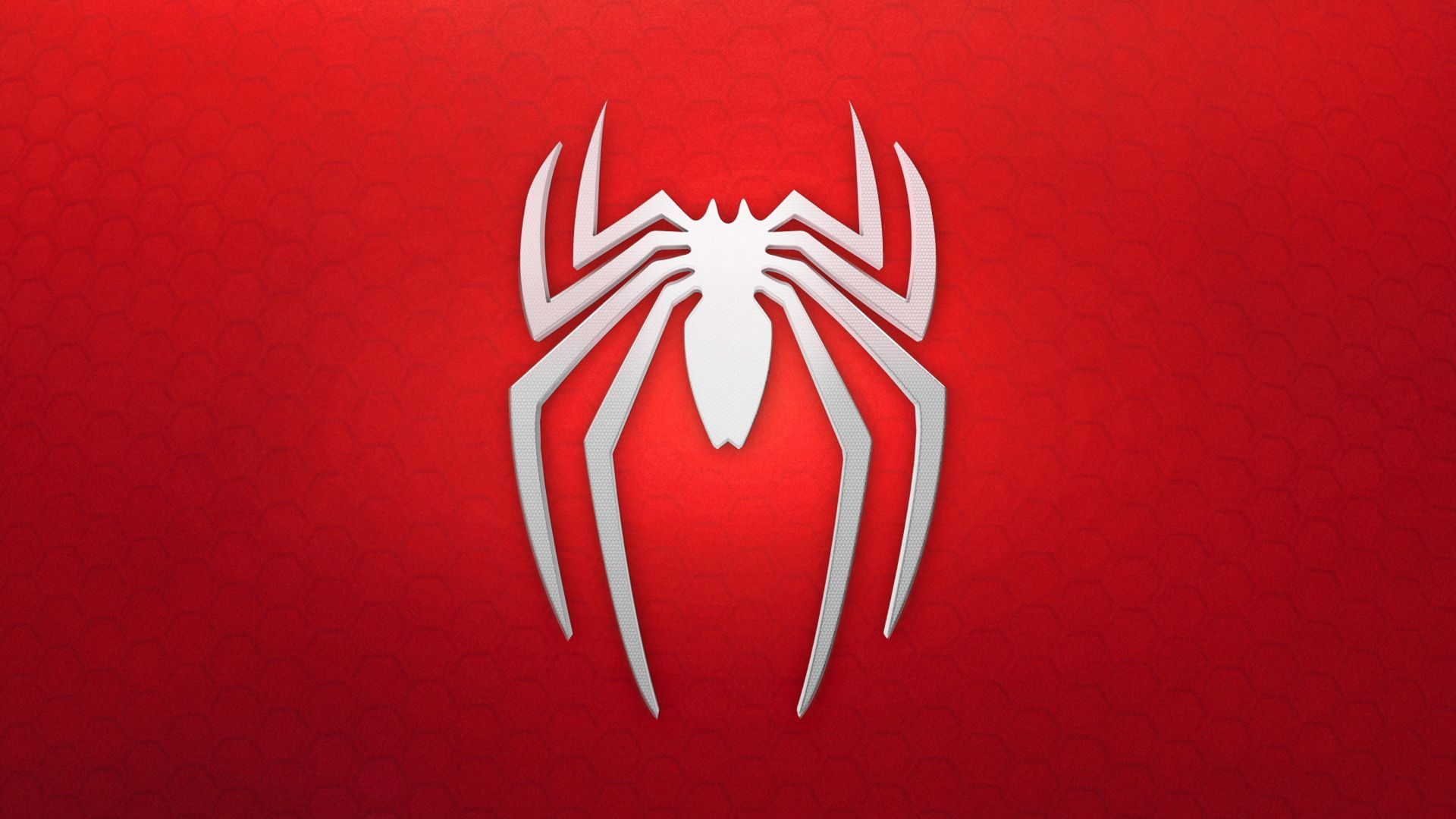 Spiderman Logo Background Red White Horizontal Spiderman Ps4 Wallpaper Spider Man Playstation Spider Man Ps4 Game