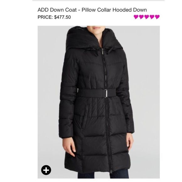 ADD Italian Down Jacket ❄️ for COLD weather !!❄️ HOT PARKA for COLD TEMPS ❄️Pillow collar hooded down jacket ! Bought at Bloomingdale's  for a trip actually paid $500. Its very warm due to the duck down, it has a huge hood that serves as a windbreaker + the belt makes you look with shape even though you have a lot of layers! Google the brand to assure the quality: add.it . NO  TRADES ✅PRICE NEGOTIABLE.   Approved for Chicago Weather!! ADD Jackets & Coats
