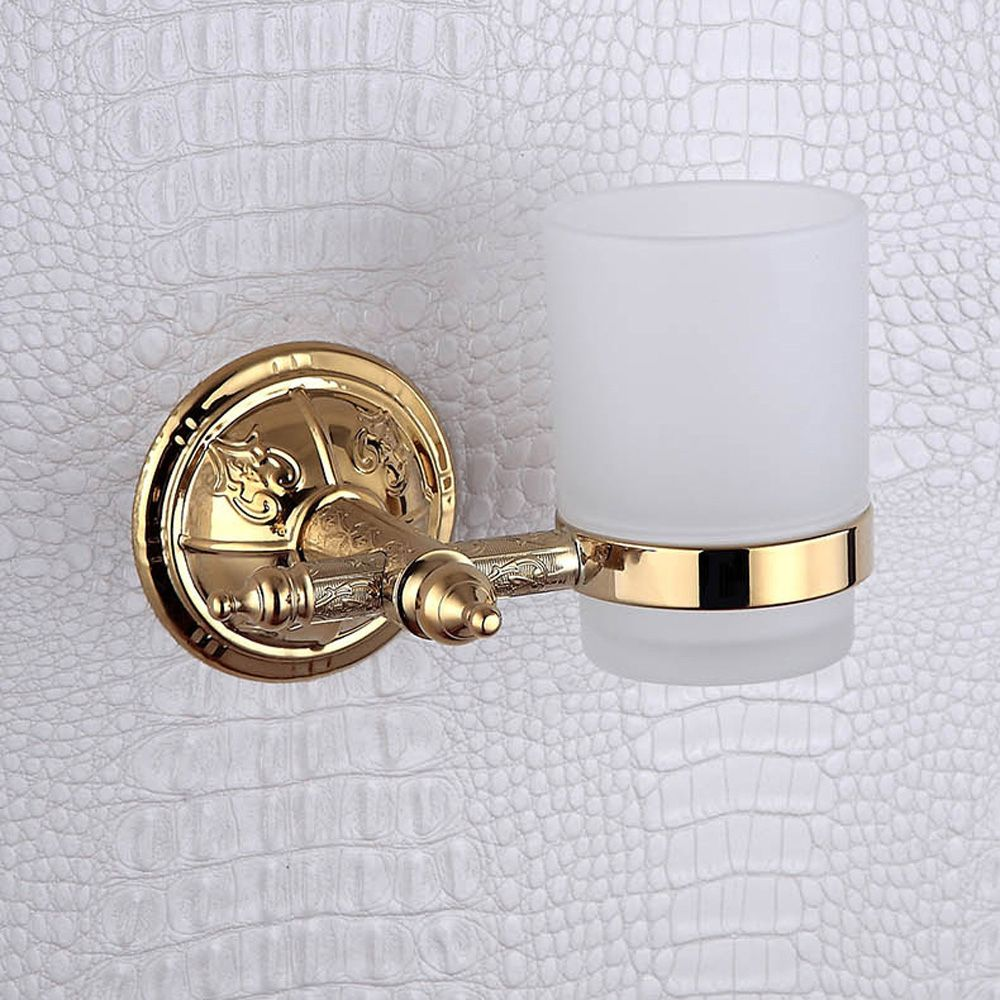 Toothbrush Holder Wall Mounted Golden Vintage Luxurious Pretty ...