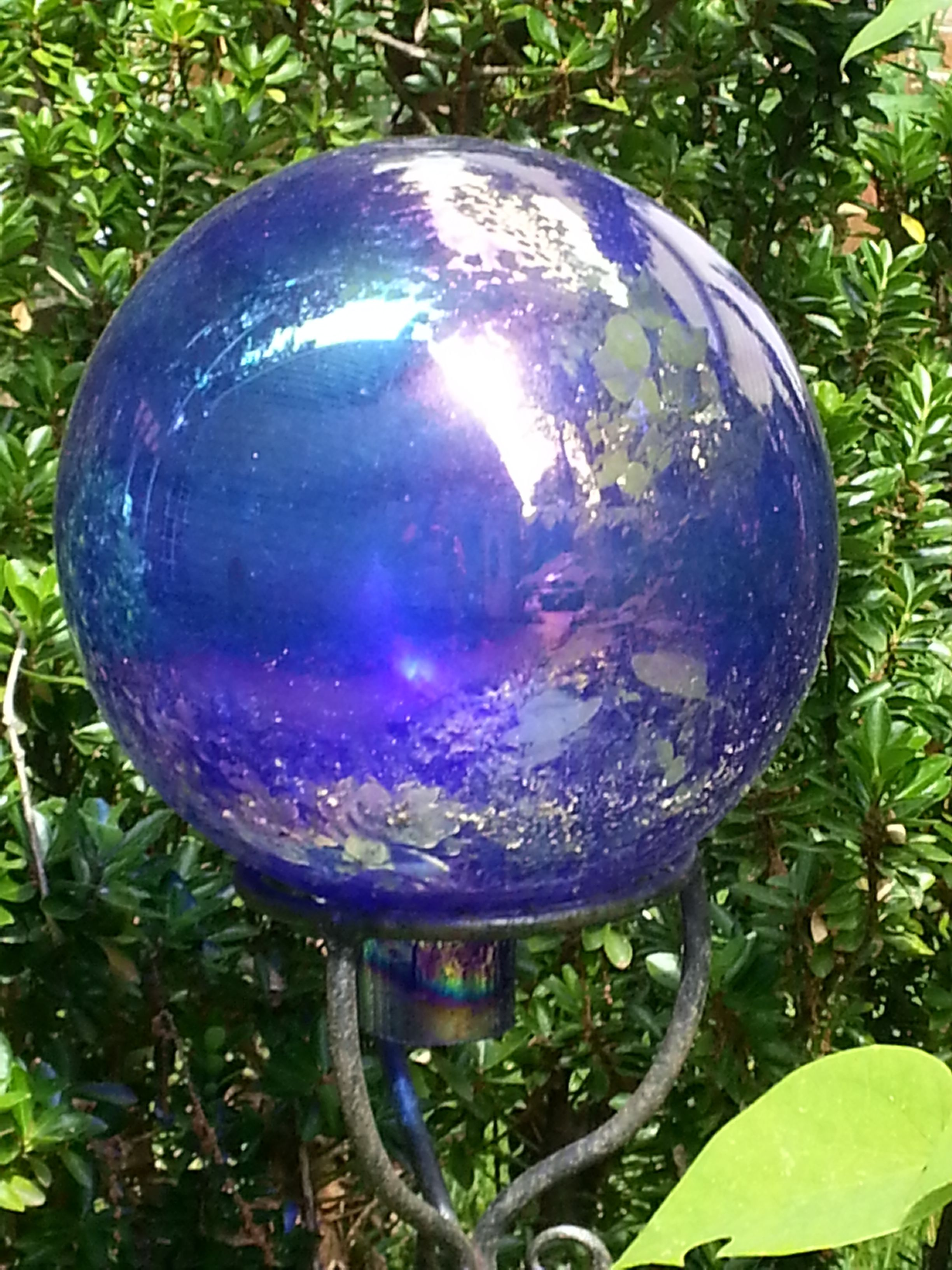 Gazing balls in the garden- why do we have them? a bit of history on