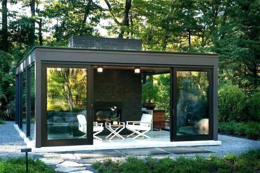 Modern Enclosed Patio With House Design Front Look With Modern