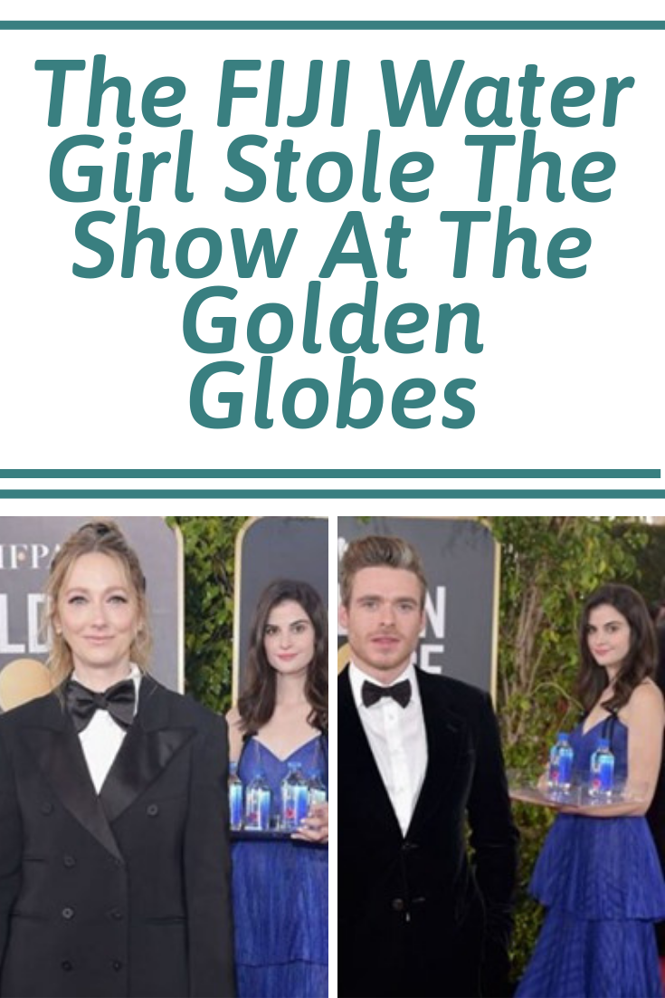 The Fiji Water Girl Stole The Show At The Golden Globes