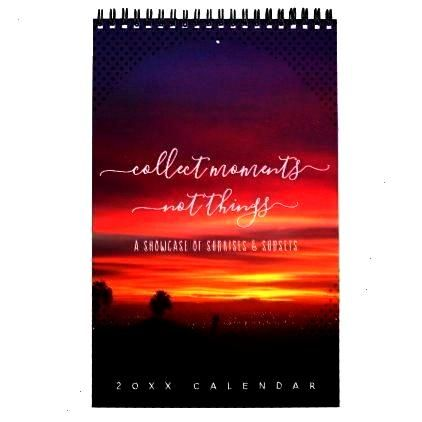 Page Calendar -Sunsets Quotes Landscape Photos One Page Calendar -  Edited with our Enlighten Light