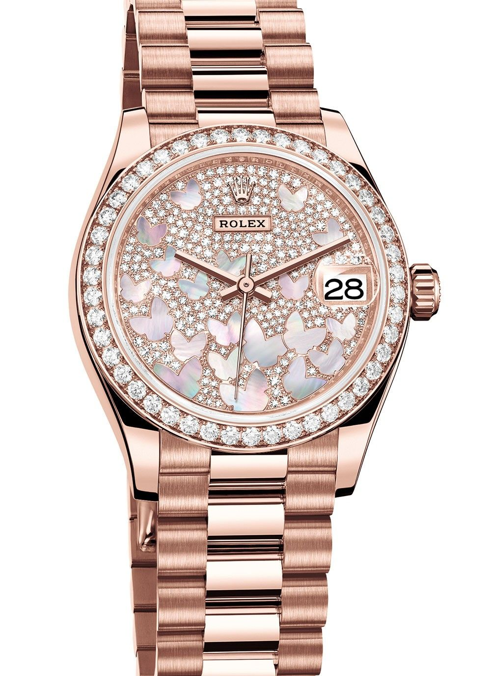 From Baselworld 2018 Rolex Datejust 31 Papillon The Mother Of Pearl Butterflies On This Dial Are Subtle Eno Womens Watches Gold Watches Women Classic Watches