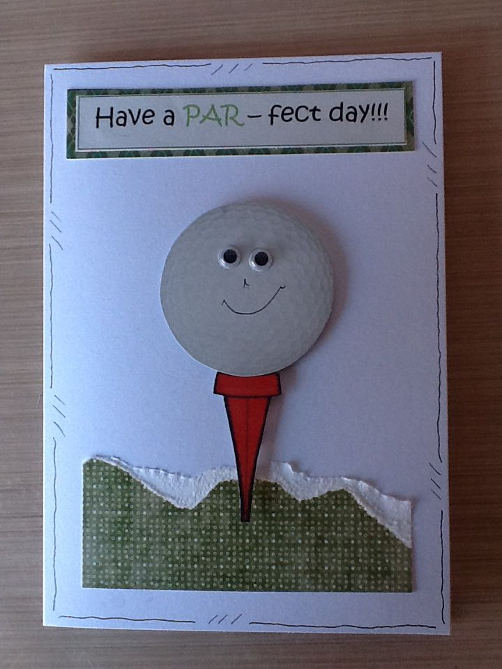 male golf birthday card