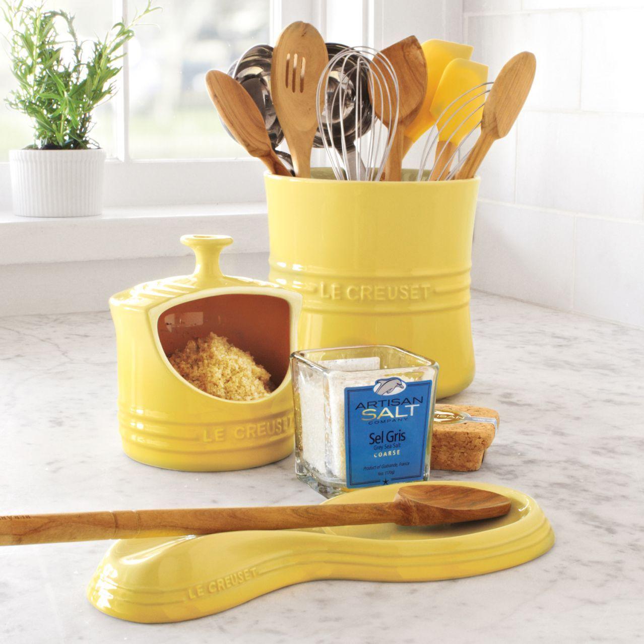 Le Creuset Soleil Utensil Crock Sur La Table Yellow Kitchen Accessories Yellow Kitchen Le Creuset Kitchen