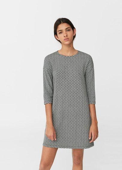 Vestido algodón estampado