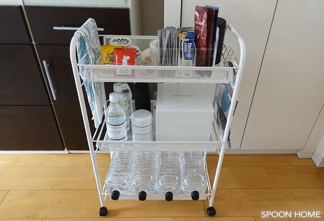 Ikeaのhornavanワゴンが便利 洗面所やキッチン デスク横の収納におすすめ 収納 収納 アイデア インテリア 収納