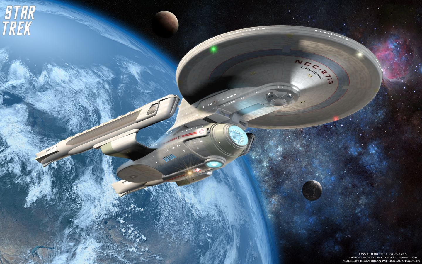Star Trek Wallpaper Trek Uss Churchill Ncc 2713 Free Star