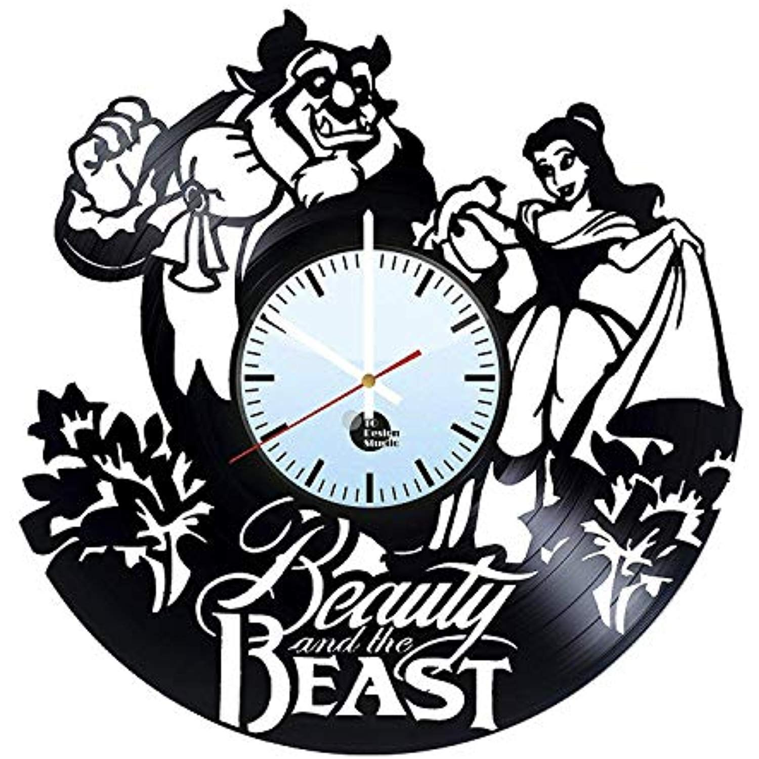 Beauty and the beast vinyl record wall clock get unique