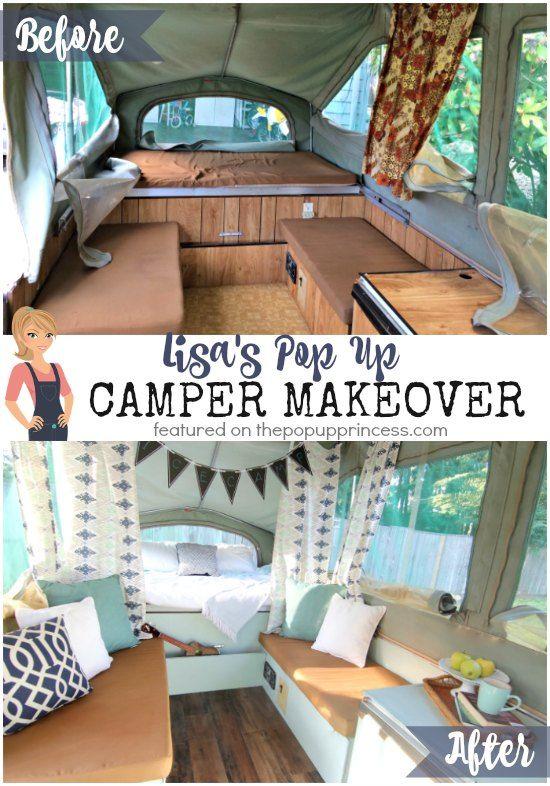 Lisa S Pop Up Camper Makeover Remodeled Campers Camper Interior