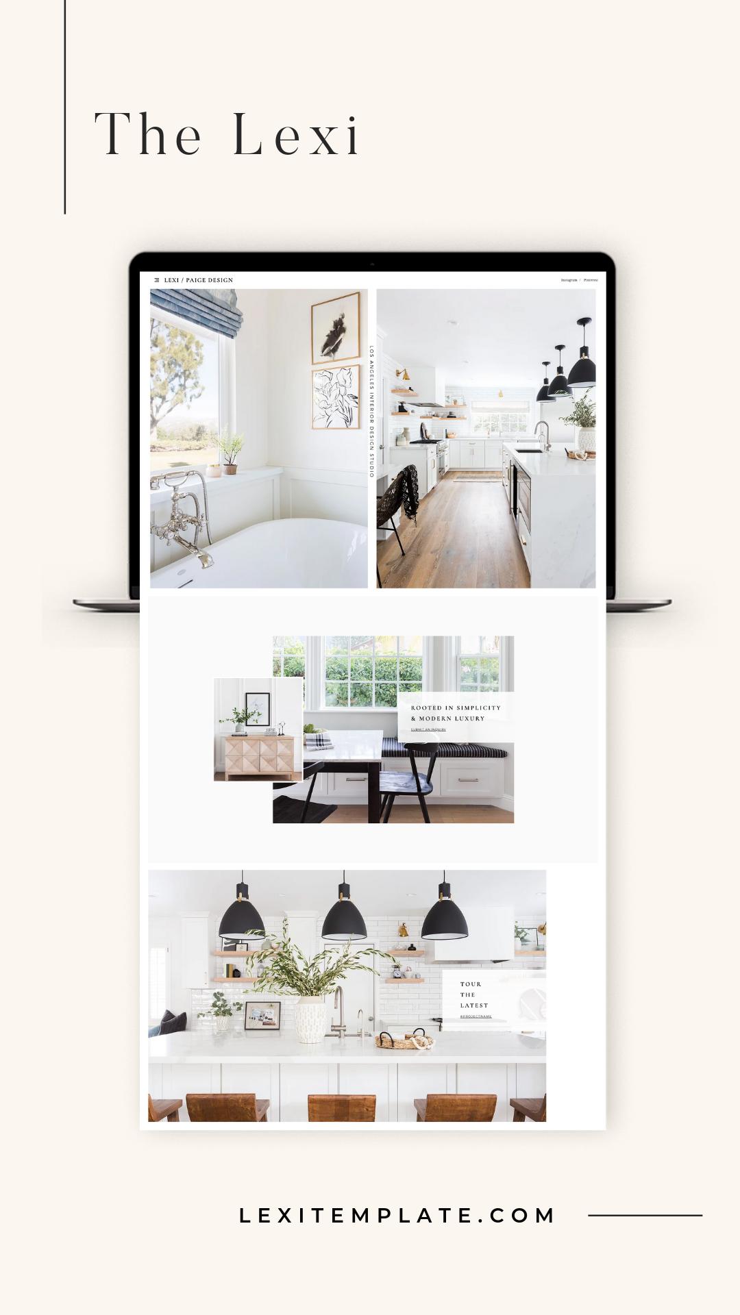 Interior Design Lookbook Template Instant Download Square