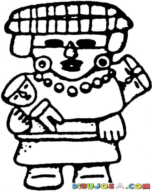 Dibujo Maya De Un Nina Maya Con Un Muneco Para Pintar Y Colorear Dibujo Aztecamaya Mayaazteca Del Baktun13 Colorear Vault Boy Fictional Characters Character