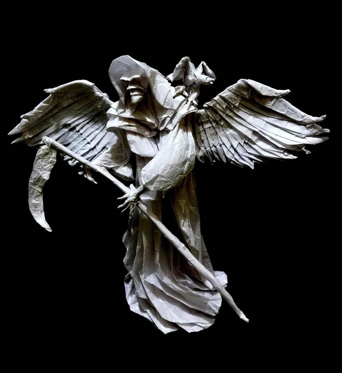 3 chillingly awesome origami grim reaper models grim