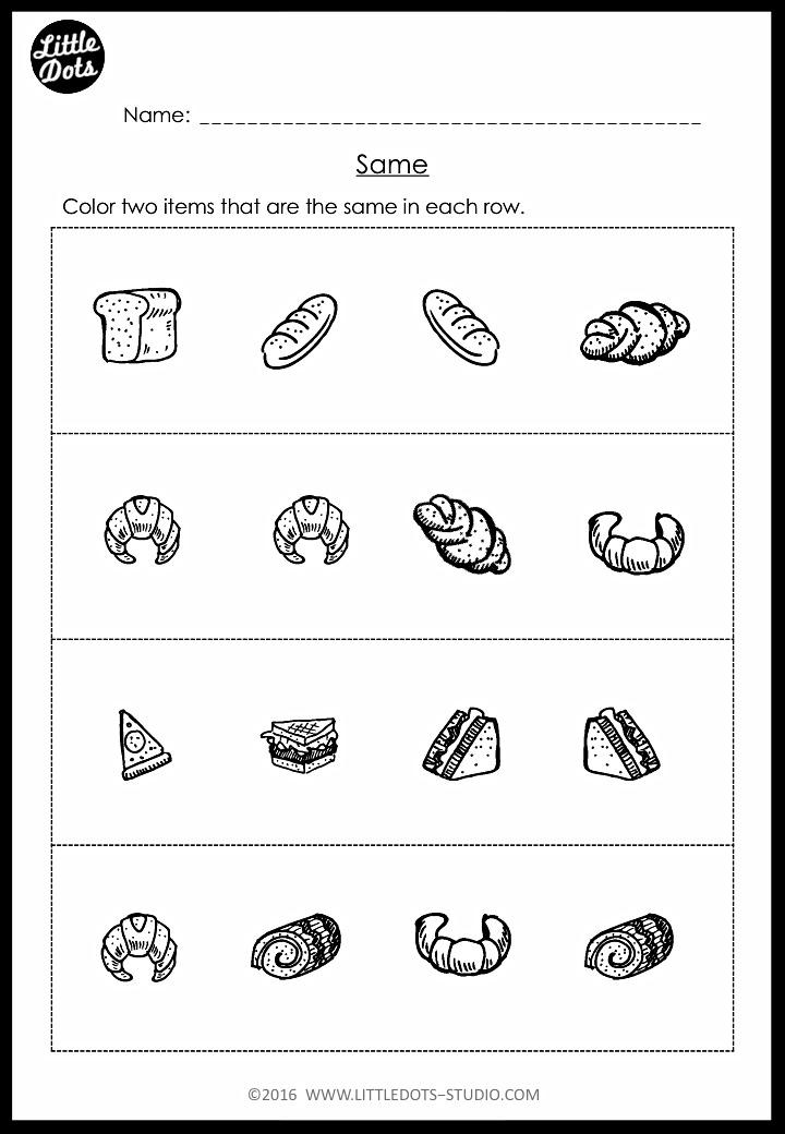 Pre K Same And Different Worksheets And Activities Preschool Math Printables Kindergarten Worksheets Pre Kindergarten Math