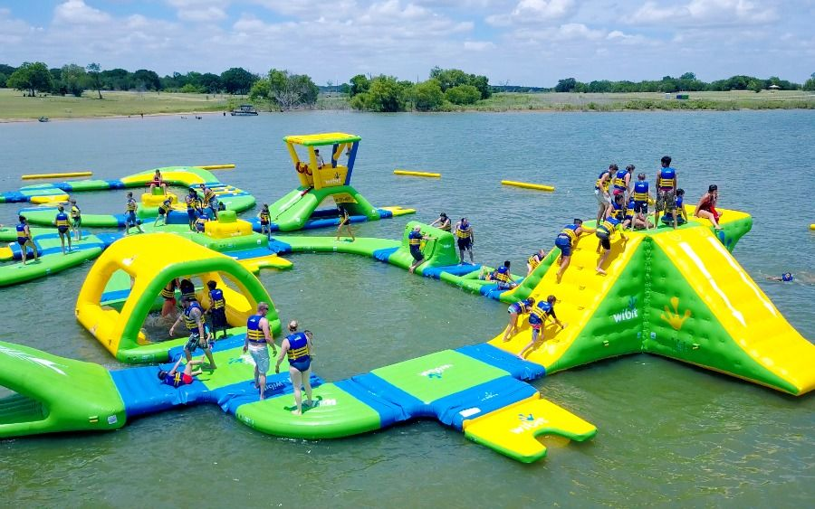 Now Open Altitude H2o Largest Floating Aqua Park Obstacle Course