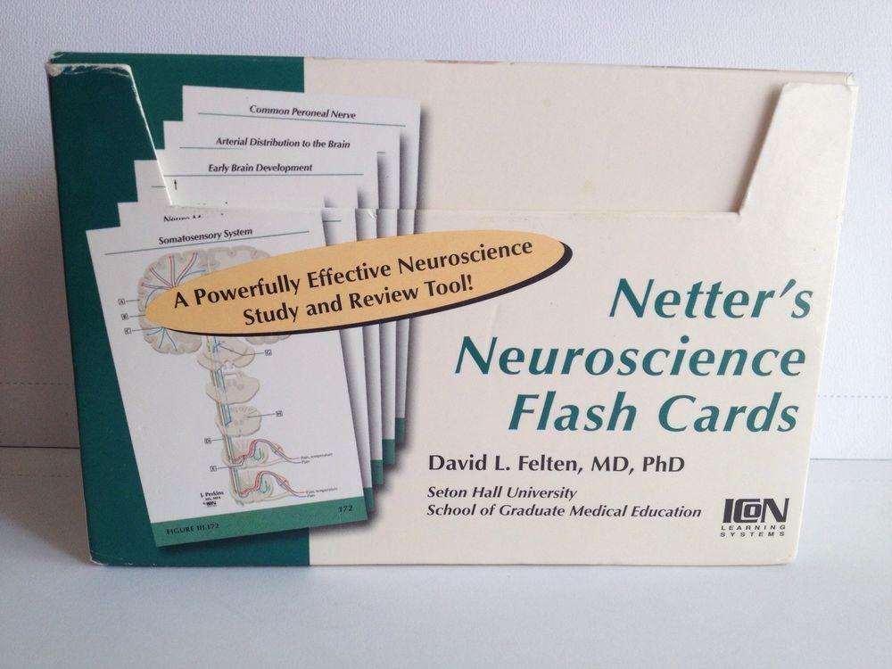Netter\'s Neuroscience Flash Cards 2005 David L. Felten Anatomy Study ...