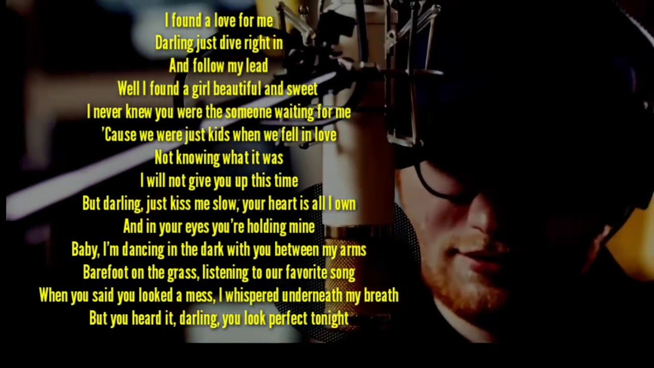 Lyrics Center Ed Sheeran Perfect Duet Lyrics Italian