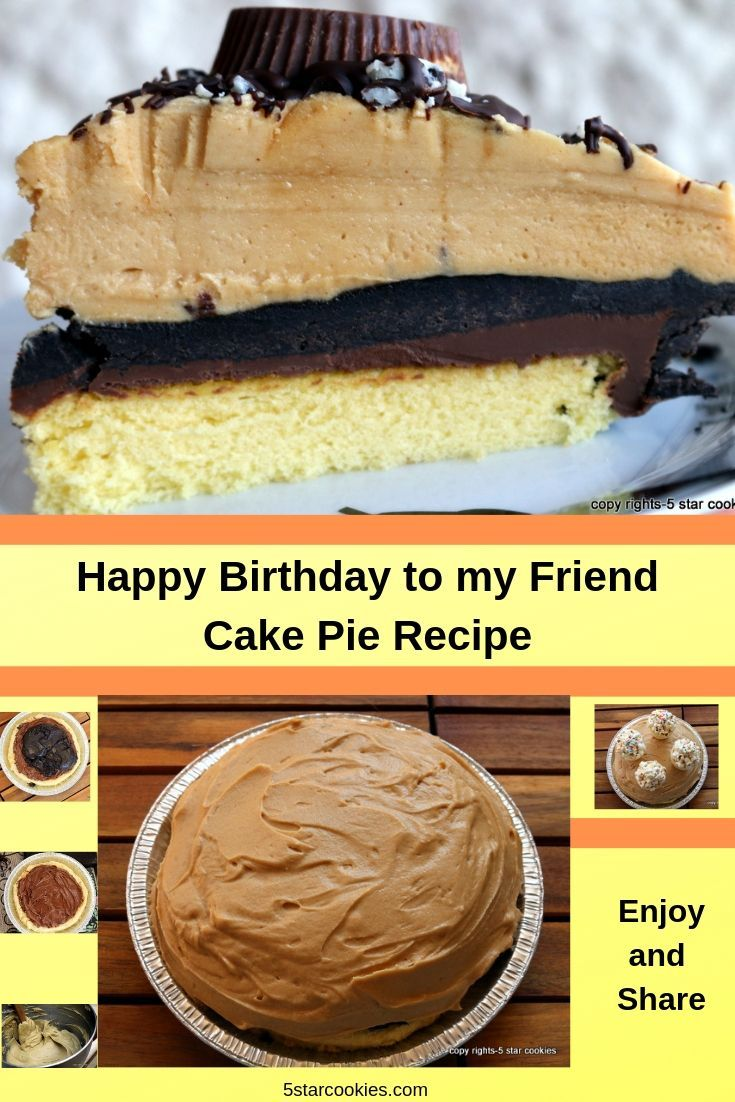 Happy Birthday Cake Pie WARNING! You will love this recipe if you like Nutella, Oreos, popcorn, chocolate, peanut butter! Also if you are cake and pie person this is your dream recipe. This is the pie/cake I made for my best friend. Enjoy and share.