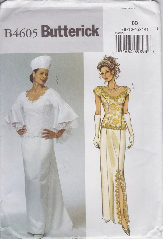 Bohemian Wedding Dress Sewing Pattern Evening Dress Pattern Size 8 ...