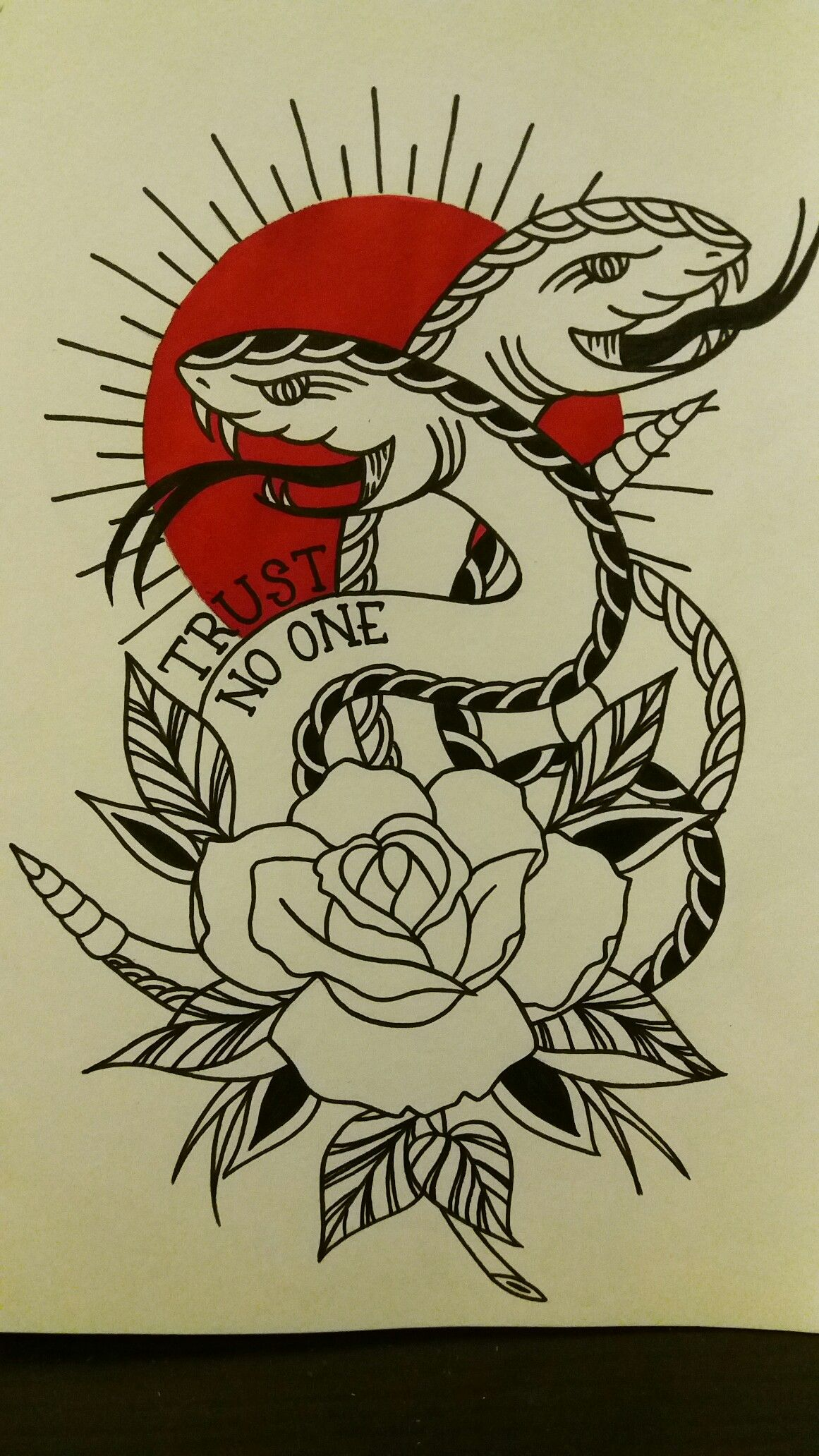 Trust No One Drawing Practice Tattoos First Tattoo Tattoo Designs