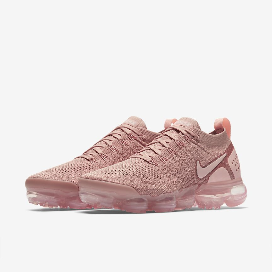 fdf3fc48259f7 The Nike Air VaporMax Flyknit 2 Rust Pink Shoes.