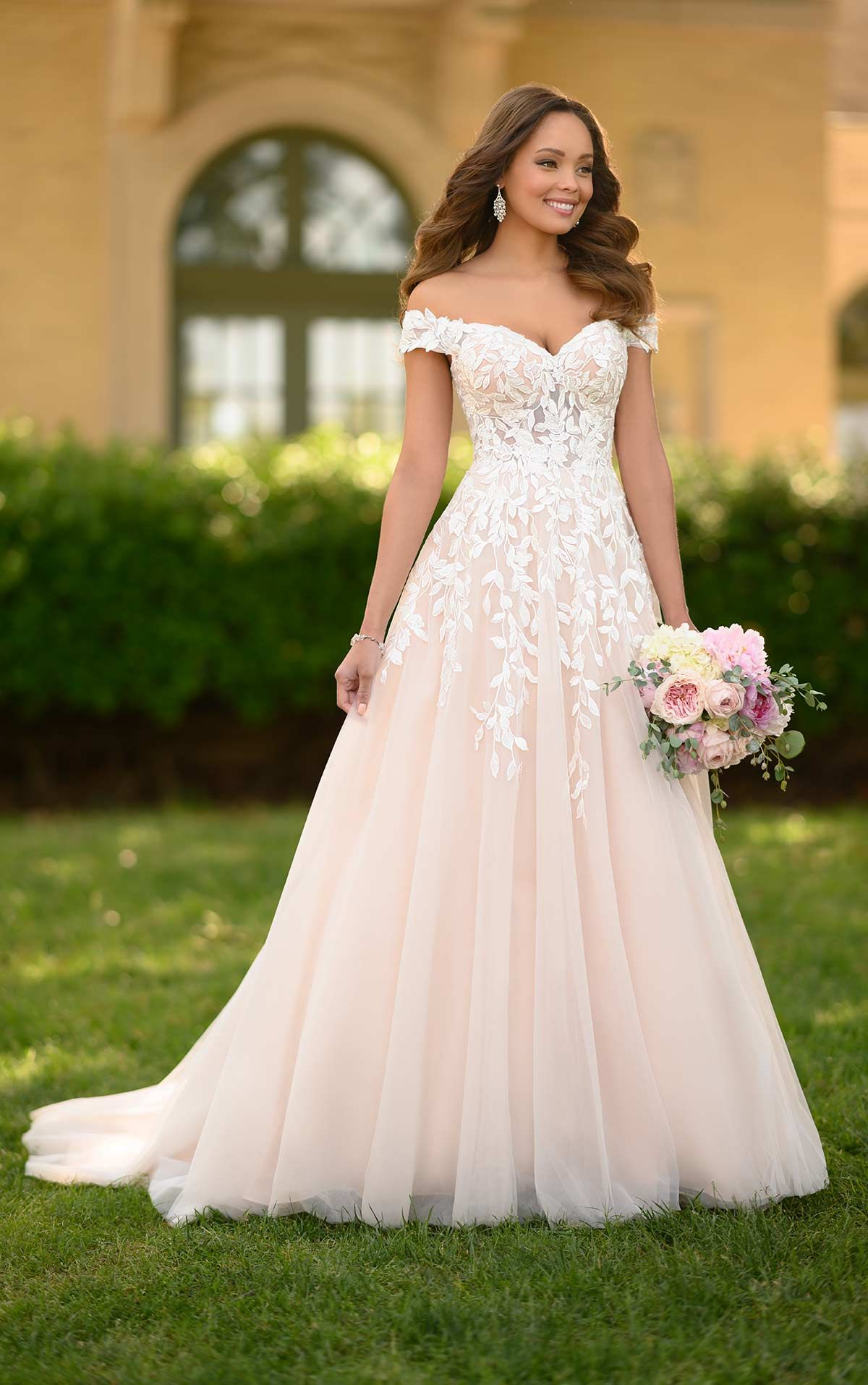 Romantisches A-Linien-Brautkleid Blattmuster - Stella York Wedding Dresses