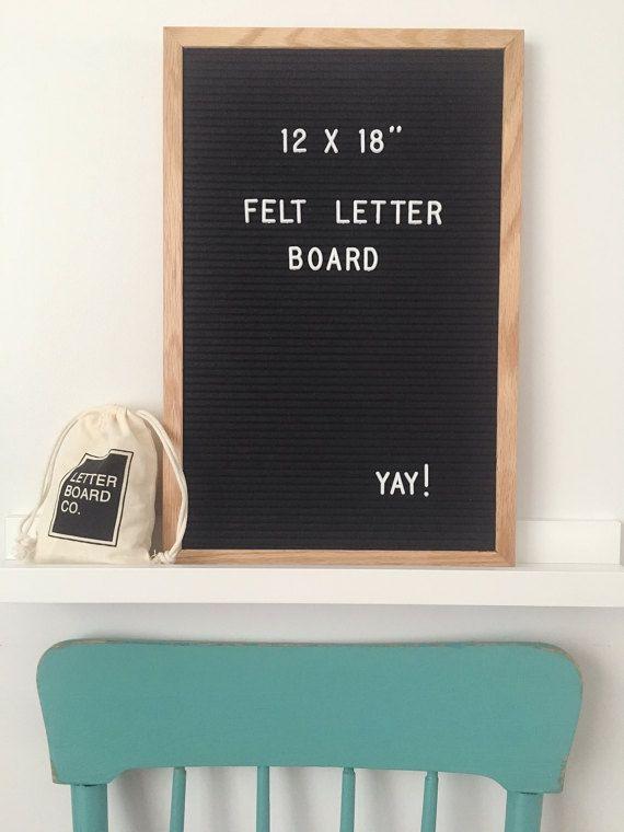 letter board company 12 x 18 felt letter board oak frame letter board