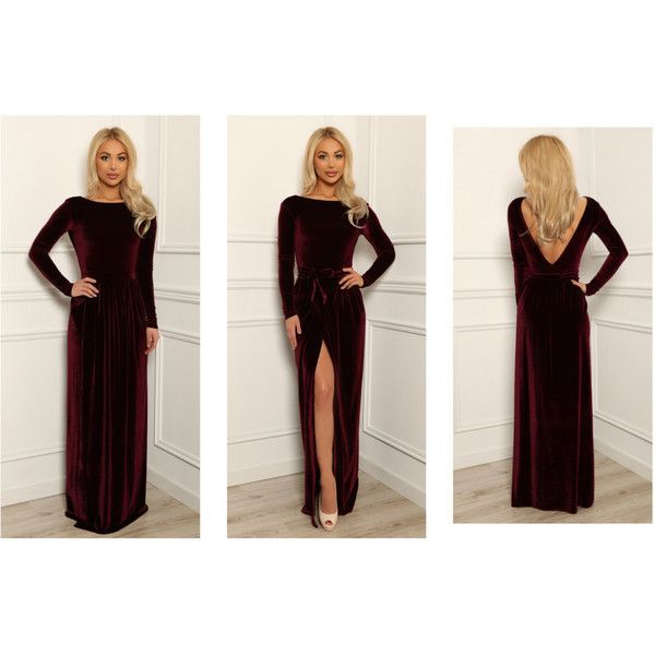 Open Slit Long Sleeve Dress with Sleeves