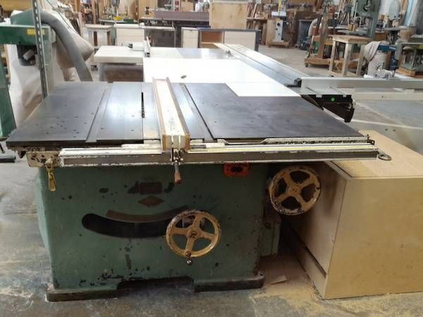 Tannewitz 16 Dual Arbor Sliding Table Saw Antique Woodworking
